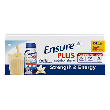 Ensure Plus Homemade Vanilla Shake - 8 oz. - 24 pk.