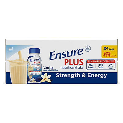 Ensure Plus Homemade Vanilla Shake - 8 oz. - 24 pk.