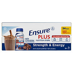 Ensure Plus Creamy Milk Chocolate Shake (8 oz. bottle, 24 pk.)