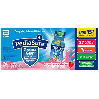 PediaSure Strawberry Shake - 8 fl. oz. - 24 pk.