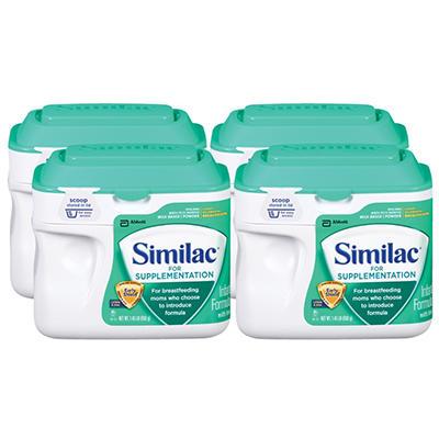 Similac For Supplementation Infant Formula with Iron, (1.45 lb., 4 pk.)