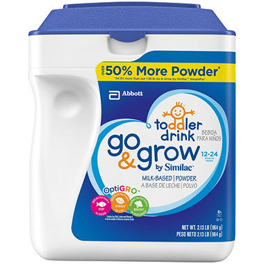 Similac Go & Grow Milk Based Toddler Drink with Iron, Stage 3 (34 oz.)