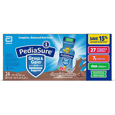 PediaSure Chocolate Shake -  8 oz. bottles - 24 pk.