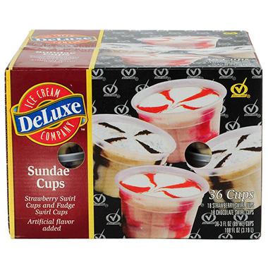 Meadow Gold Deluxe Sundae Cups Variety Pack - 3 oz. - 36 ct.