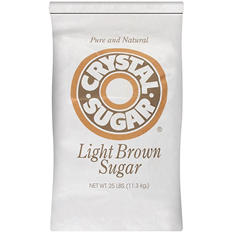Crystal Sugar Light Brown Sugar - 25 lb.