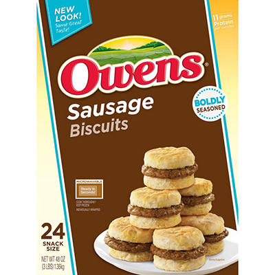 Owens® SnackWiches® Sausage Biscuits - 24ct