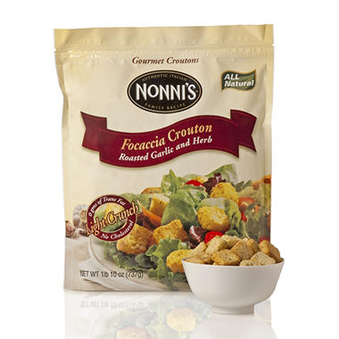 Nonni's - Focaccia Croutons Garlic and Herb - 26 oz.