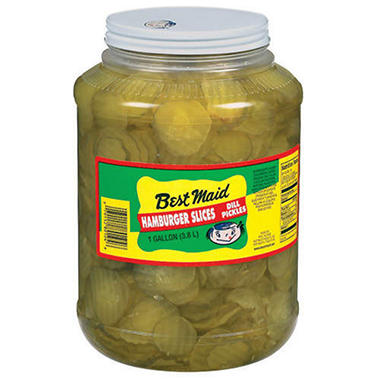 Best Maid Dill Pickle Slices-1 gal. jar