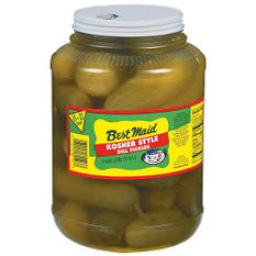 Best Maid Kosher Dill Pickles - 1gal plastic jar