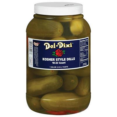 Del-Dixi Kosher Style Dills - 1 gal