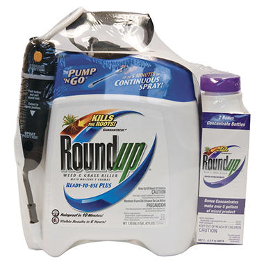 Roundup Weed & Grass Killer PNG 1.33 Gal with Refill