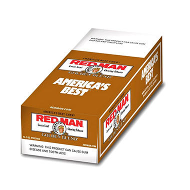 Red Man Golden Blend Chewing Tobacco - 12 / 3 oz.