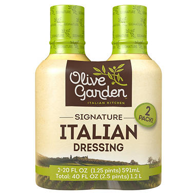 Olive Garden Signature Italian Dressing 20 Oz Bottle 2 Ct Sam 39 S Club