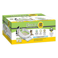 Tidy Cats BREEZE Cat Litter Box Starter Kit for Multiple Cats
