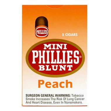 Mini Phillies Blunt Cigars Peach - 50 ct.