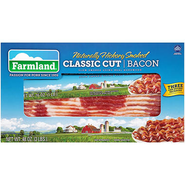 Farmland Hickory Smoked Bacon (1 lb., 3 pks.)