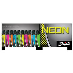 Scripto Neon Brick Lighters (75 ct.)