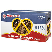 Anderson Mini Twists Pretzels - 6 lbs