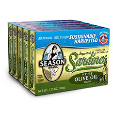 Season Brand Sardines in Olive Oil (3.75 oz., 5 pk.)