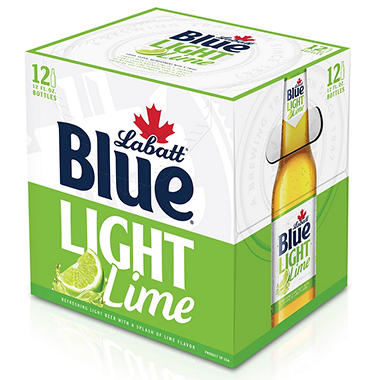 LABATT BLUE LT LIME 12 / 12 OZ BOTTLES