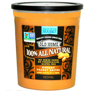 Old Home All Natural Refrigerated Peanut Butter (32 oz. tub)