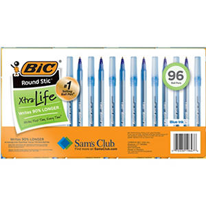 BIC Round Stic Xtra Life, Select Color (Medium, 96 ct.)