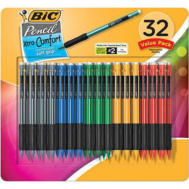 BIC - Matic Grip Mechanical Pencil, HB #2, 0.7 mm - 32 Pencils