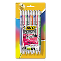 BIC® Xtra-Sparkle Mechanical Pencil, 0.7mm, Assorted Color Barrels, 24pk.