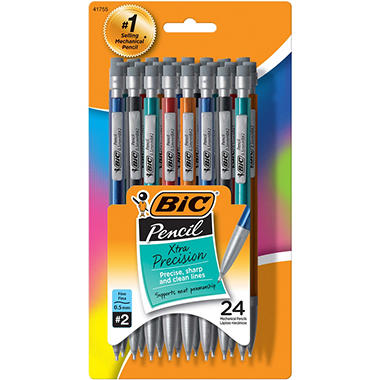 BIC - Mechanical Pencil, No. 2 Lead, 0.5 mm - 24 Pencils