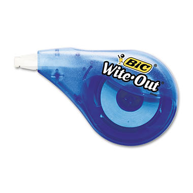 "BIC - Wite-Out EZ Correct Correction Tape, Non-Refillable - 1/6"" x 397"""