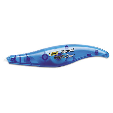 "BIC - Wite-Out Exact Liner Correction Tape Pen, 1/5"" x 236"" - 2 Pack"