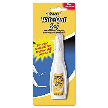 BIC Wite-Out 2-in-1 Correction Brush and Pen