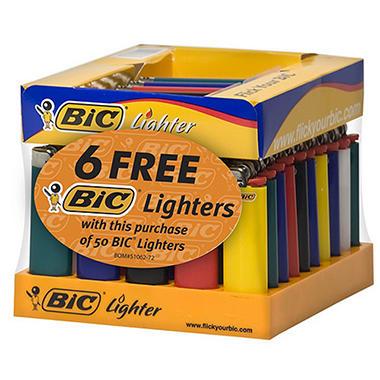 Bic Lighter Regular 50 CT