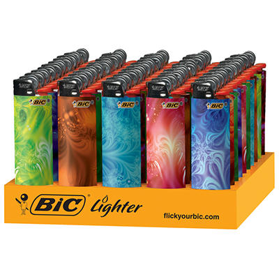 BIC Geometric Lighters Tray - 50 Lighters