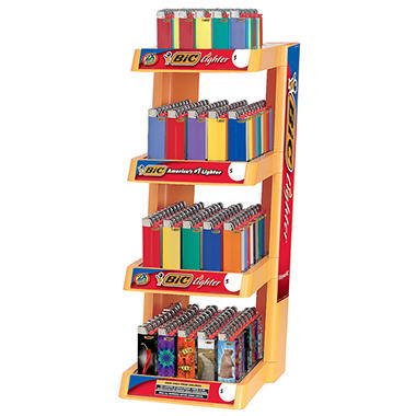 BIC Lighters 4 Tier Display Tray - 200 Lighters