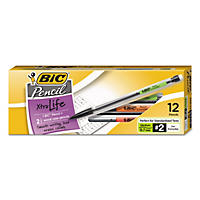 BIC® Xtra-Life Mechanical Pencil, .7mm, Clear Barrel, 12pk.