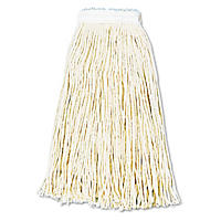 Unisan - Premium Cut-End Wet Mop Heads, Cotton, 16oz, White -  12/Carton