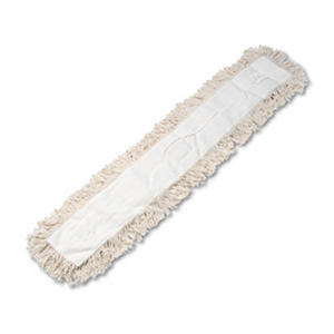 Unisan - Industrial Dust Mop Head, Hygrade Cotton, 48w x 5d -  White