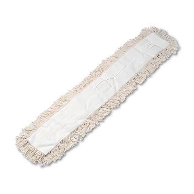 Unisan - Industrial Dust Mop Head, Hygrade Cotton, 48w x 5d -  White