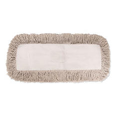 Unisan Industrial Dust Mop Head, Hygrade Cotton, White (Choose Your Size)