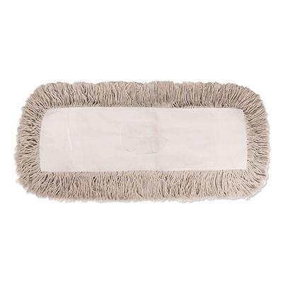 Unisan - Industrial Dust Mop Head, Hygrade Cotton, 24w x 5d -  White