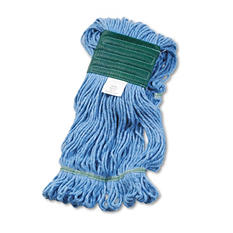 Unisan Super Loop Wet Mop Head - Cotton/Synthetic - Medium Size - Blue