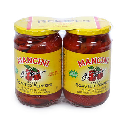 Mancini Roasted Peppers - 2/24 oz.