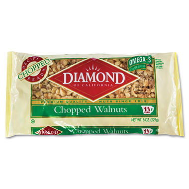 Diamond of California® Chopped Walnuts - 8 oz. bag