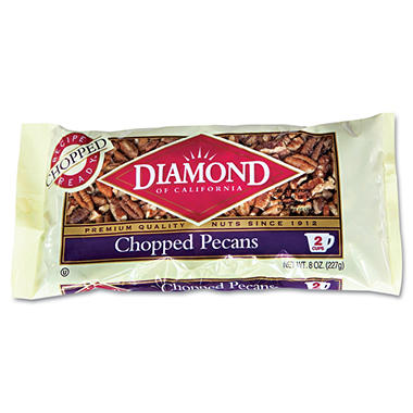 Diamond of California® Chopped Pecans - 8 oz. bags