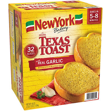 New York® Brand Texas Garlic Toast - 32 ct.