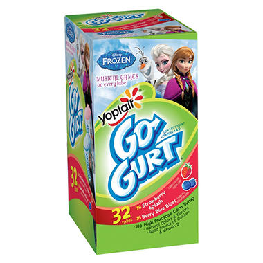 Go-Gurt Yogurt Variety Pack (2.25 oz. ea., 32 ct.)