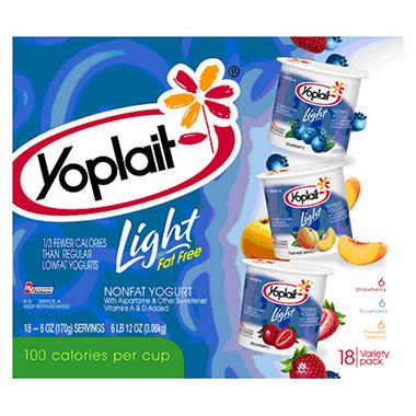 Yoplait® Light Yogurt Variety - 6 oz. cups - 18 ct.