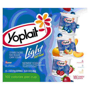 Yoplait� Light Yogurt Variety - 6 oz. cups - 18 ct.