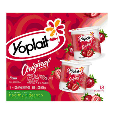 Yoplait� Original Yogurt Strawberry - 6 oz. cups - 18 ct.